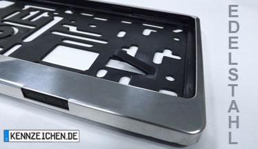 1 kennzeichenhalter edelstahl kennzeichenverst rker. Black Bedroom Furniture Sets. Home Design Ideas